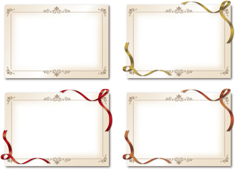 Four kinds of frame high class decorative ruling