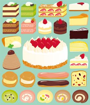 케이크 가득