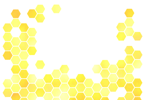 【With margin】 Honeycomb pattern