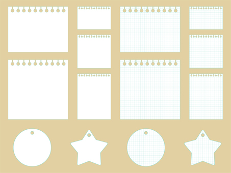 Free Cliparts : Graph paper Notepad - 738062 | illustAC