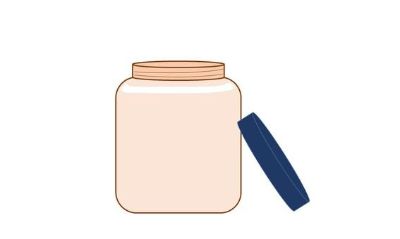 Glass bottle P
