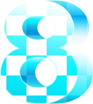 ai checkered three-dimensional figure 7