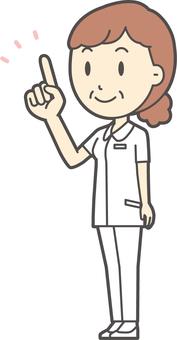 中年婦女護理白色外套-208全身