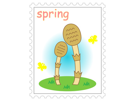 Spring stamp (Tsukushi)