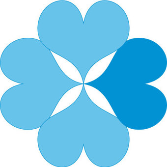 Four leaf clover _ blue