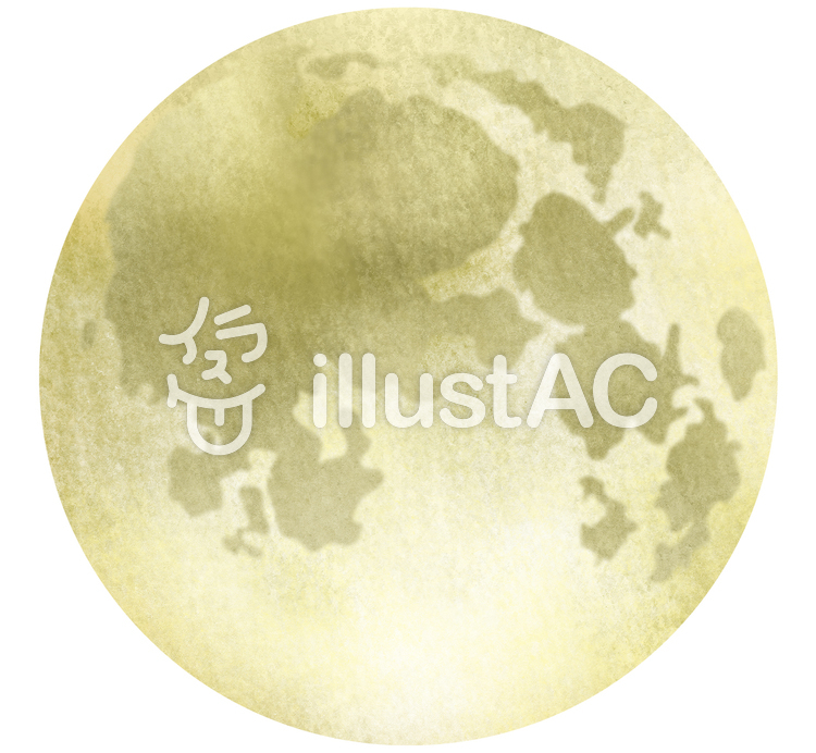 【フリーイラスト素材】水彩風な満月