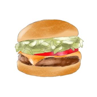 Hamburger handwritten illustration