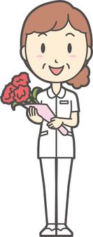 中年女護士白大衣-155-全身