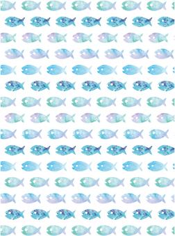 魚水彩紋理