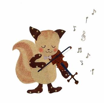 동물과 악기 시리즈 ~ 목록 바이올린 ~