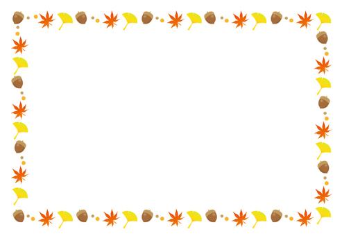Decorative frame autumn