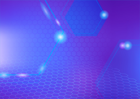 Purple hexagon and light abstract background texture material