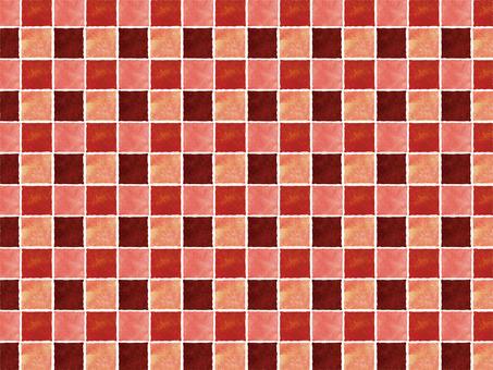 Warm color check pattern wallpaper