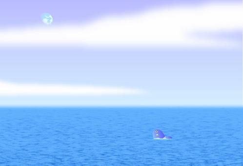 Sunfish and moon