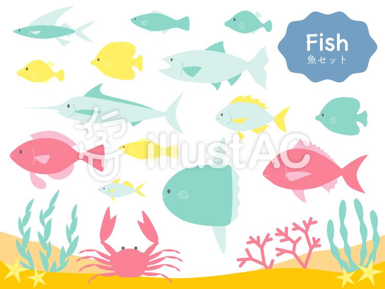 魚セットのイラスト