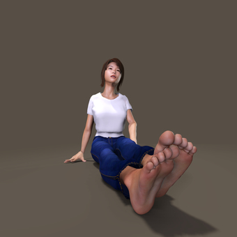 Sitting person (background transparent)