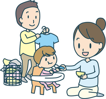 Coexistence of housework and child care by husband and wife