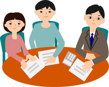 Consultation meeting suit Men and customers men and women