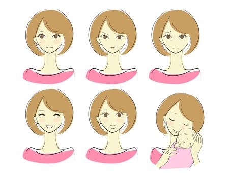 여성의 표정 세트 2