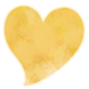 Watercolor style soft heart 3