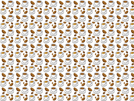 Coffee pattern _ white background