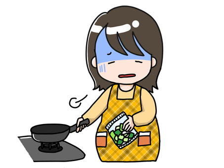 I have to cook even shampoo