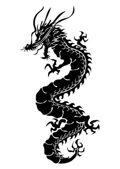 龍柄 シルエット 03