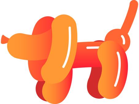 Balloon art dog