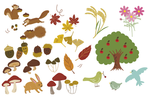 Fall illustration various -2 (color)