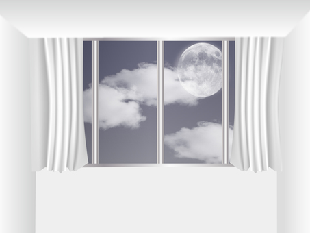 Room with a view of the moon