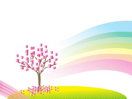 桜 rainbow