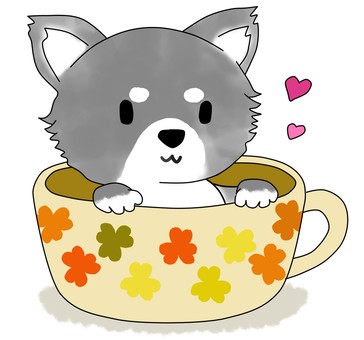 Dog In Cup 1