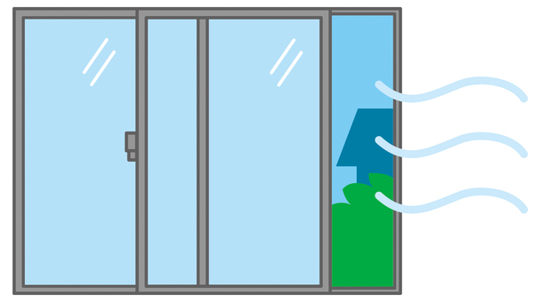 Room ventilation / open windows