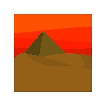 The desert at dusk