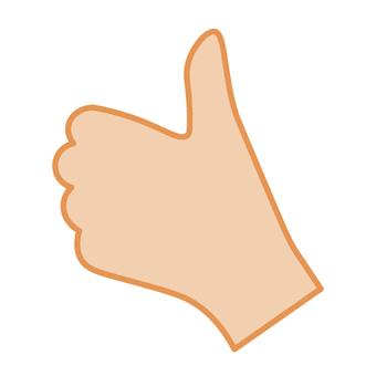 Hand (image of GOOD! Like!)