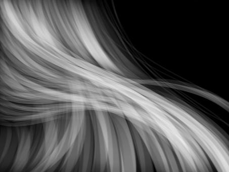 Female hair / white / silver