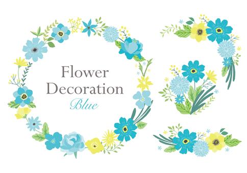 푸른 꽃 장식 세트