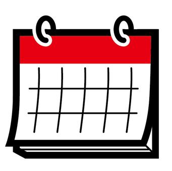 Calendar schedule red schedule