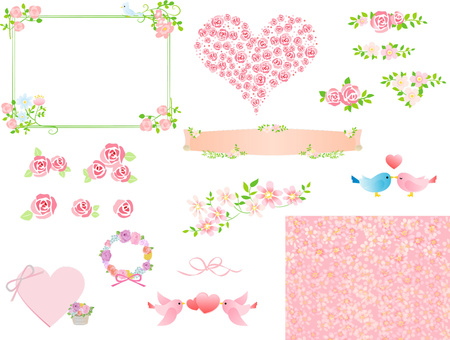 Pink material collection Hana Spring
