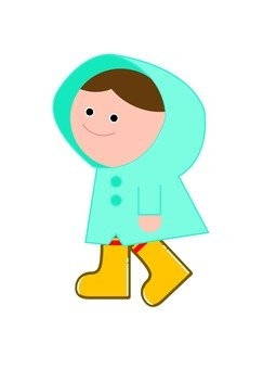 Child wearing a raincoat