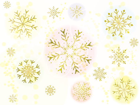 Snow crystal gold background