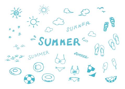 Various summer illustrations