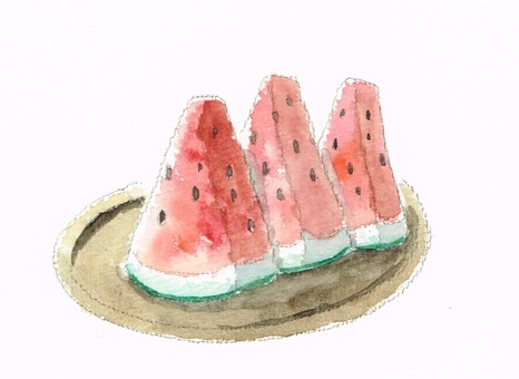 Watermelon water color