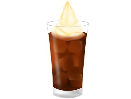 커피 플로트 소프트 아이스크림