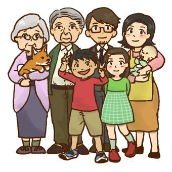 3 세대 가족 단체 사진