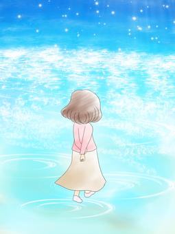 당신을 배웅 바다