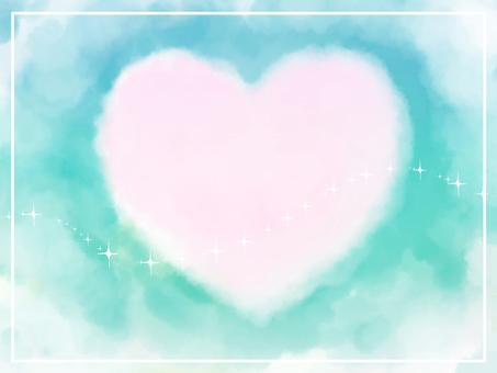 Heart cloud - green