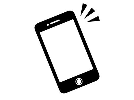 Silhouette smartphone mobile black