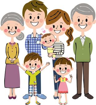 Nakayoshi seven people Family whole body