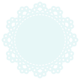 Round lace (light blue)